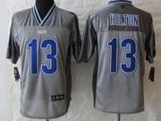 Mens Nfl Indianapolis Colts #13 Hilton Gray Vapor (2013 New) Elite Jersey