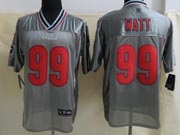 mens nfl Houston Texans #99 JJ Watt gray vapor (2013 new) elite jersey