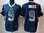 mens nfl New Orleans Saints #9 Drew Brees drift fashion black elite jersey