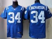 Mens Nfl Indianapolis Colts #34 Richardson Blue Elite Jersey