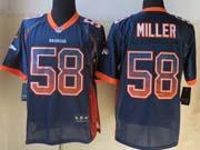 mens nfl Denver Broncos #58 Von Miller drift fashion blue elite jersey