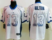Mens Nfl Indianapolis Colts #13 Hilton Drift Fashion White Elite Jersey