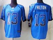 Mens Nfl Indianapolis Colts #13 Hilton Drift Fashion Blue Elite Jersey
