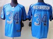 Mens Nfl Indianapolis Colts #34 Richardson Drift Fashion Blue Elite Jersey