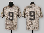 mens nfl New Orleans Saints #9 Drew Brees camo us mccuu jersey