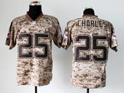Mens Nfl Kansas City Chiefs #25 Charles Camo Us Mccuu Jersey