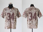 mens nfl Chicago Bears #34 Walter Payton camo us mccuu jersey