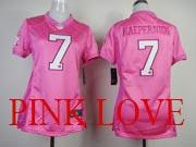 women  nfl San Francisco 49ers #7 Colin Kaepernick pink love jersey