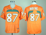 Mens Ncaa Nfl Miami Hurricanes #87 Wayne Orange Jersey Gz