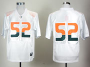 Mens Ncaa Nfl Miami Hurricanes #52 Lewis White Fight Jersey Gz