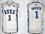 Mens Ncaa Nba Duke Blue Devils #1 Parker White Jersey Gz