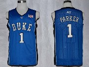 Mens Ncaa Nba Duke Blue Devils #1 Parker Blue Jersey Gz