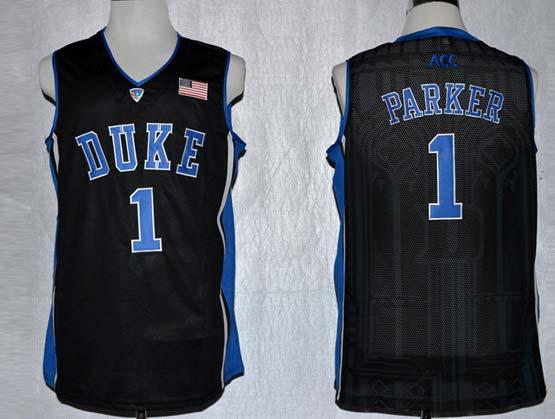 Mens Ncaa Nba Duke Blue Devils #1 Parker Black Jersey Gz