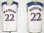 Mens Ncaa Nba Kansas Jayhawks #22 Wiggins White Jersey Gz