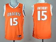 Mens Ncaa Nba Syracuse Orange #15 Anthony Orange Jersey Gz