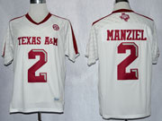 Mens Ncaa Nfl Texas A&m Aggies #2 Manziel White (2013) Jersey Gz