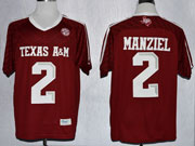 Mens Ncaa Nfl Texas A&m Aggies #2 Manziel Red (2013) Jersey Gz