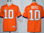 Mens Ncaa Nfl Clemson Tigers #10 Boyd Orange Limited Jersey Gz