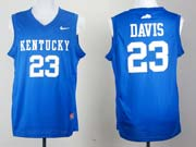 Mens Ncaa Nba Kentucky Wildcats #23 Anthony Davis Blue Jersey Gz