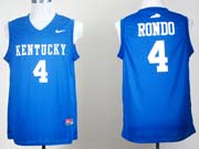 Mens Ncaa Nba Kentucky Wildcats #4 Rajon Rondo Blue Jersey Gz