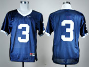 Mens Ncaa Nfl Penn State Nittany Lions #3 Blue Elite Jersey Gz