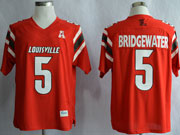 Mens Ncaa Nfl Louisville Cardinals #5 Bridgewater Red Jersey Gz