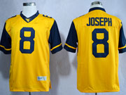 Mens Ncaa Nfl Virginia Mountaineers #8 Joseph Yellow Limited Jersey Gz