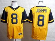 Mens Ncaa Nfl Virginia Mountaineers #8 Joseph Yellow Elite Jersey Gz