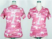 women  nfl San Francisco 49ers #7 Colin Kaepernick 2013 new pink camo fashion jersey