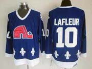 Mens nhl quebec nordiques #10 lafleur dark blue throwbacks Jersey