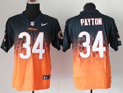 mens nfl Chicago Bears #34 Walter Payton blue&orange drift fashion ii elite jersey