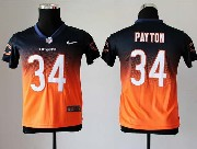 youth nfl Chicago Bears #34 Walter Payton blue&orange drift fashion ii elite jersey
