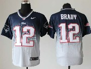 mens nfl New England Patriots #12 Tom Brady blue&white drift fashion ii elite jersey