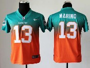 Youth Nfl Miami Dolphins #13 Marino Green&orange Drift Fashion Ii Elite Jersey