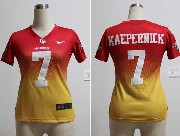 women  nfl San Francisco 49ers #7 Colin Kaepernick red&yellow drift fashion ii elite jersey