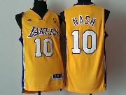 Mens Nba Los Angeles Lakers #10 Nash Gold Revolution 30 Jersey (p)