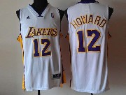 Mens Nba Los Angeles Lakers #12 Brown White Revolution 30 Jersey (p)