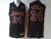 Mens Nba Los Angeles Lakers #24 Bryant Black (purple Number) Revolution 30 Jersey (p)