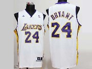 Mens NBA Los Angeles Lakers #24 BRYANT WHITE Revolution 30 JERSEY (P)