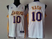 Mens Nba Los Angeles Lakers #10 Nash White Revolution 30 Jersey (p)