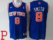 Mens Nba New York Knicks #8 Smith Blue Revolution 30 Jersey (p)