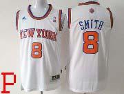 Mens Nba New York Knicks #8 Smith White Revolution 30 Jersey (p)
