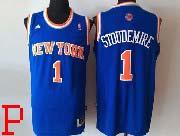 Mens Nba New York Knicks #1 Stoudemire Blue Revolution 30 Jersey (p)