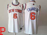 Mens Nba New York Knicks #6 Chandler White Revolution 30 Jersey (p)