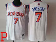 mens nba New York Knicks #7 Carmelo Anthony white revolution 30 jersey (p)