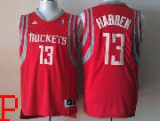 Mens Nba Houston Rockets #13 Harden Red (white Number) Revolution 30 Jersey (p)