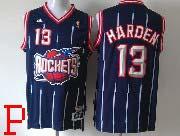 Mens Nba Houston Rockets #13 Harden Blue Stripe Revolution 30 Jersey (m)
