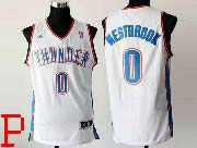 mens nba Oklahoma City Thunder #0 Russell Westbrook white revolution 30 jersey (p)
