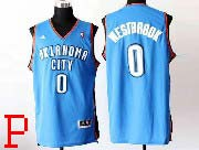 mens nba Oklahoma City Thunder #0 Russell Westbrook light blue revolution 30 jersey (p)