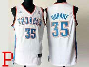 Mens Nba Oklahoma City Thunder #35 Kevin Durant White Revolution 30 Jersey (p)